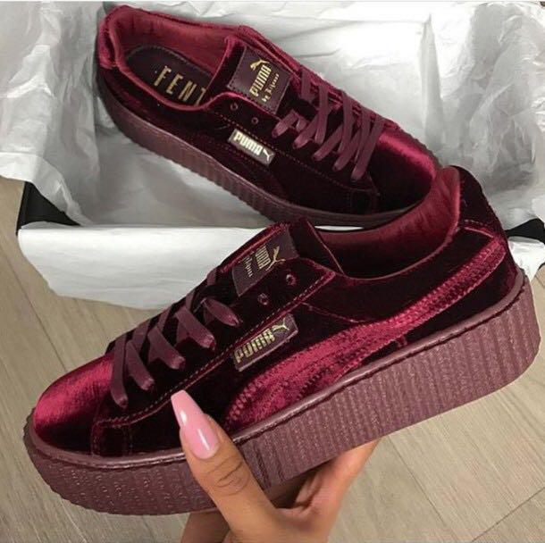 new styles 4a6c2 d8e3d BN! Puma FENTY by Rihanna velvet creepers, Women's Fashion ...