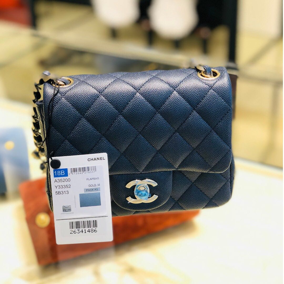 2cb93dfcde0f BNIB Chanel Mini Square, Luxury, Bags & Wallets, Handbags on Carousell