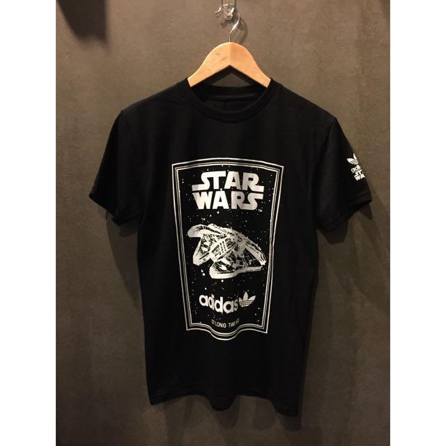 Collaboration Adidas New Men's T Shirt Brand Star Tee Wars X ITPSXqd