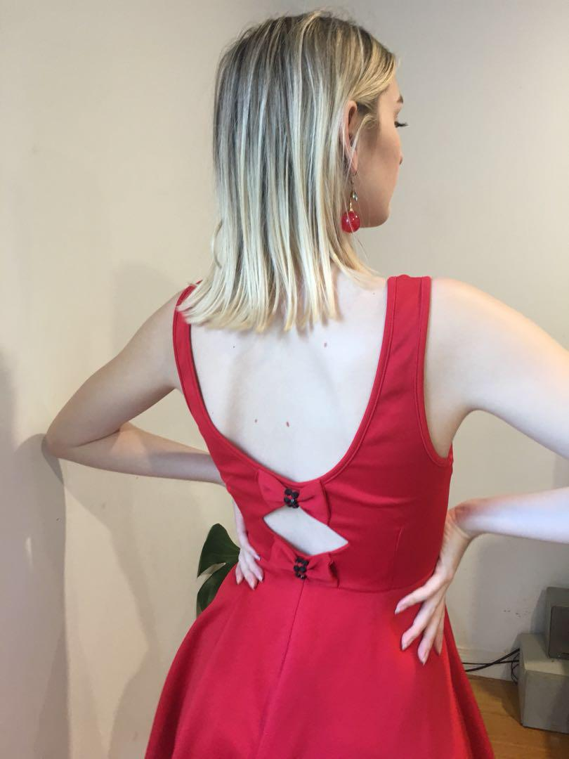 🍒Cherry Red Bow Dress🍒