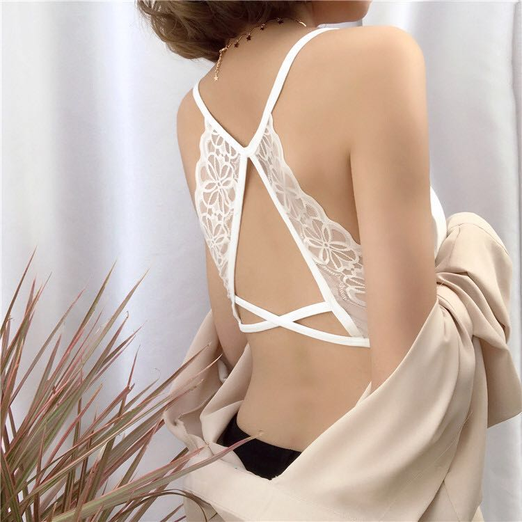 822e907bab9 Chole White Cotton Butterfly Bralette (Free Mailing)