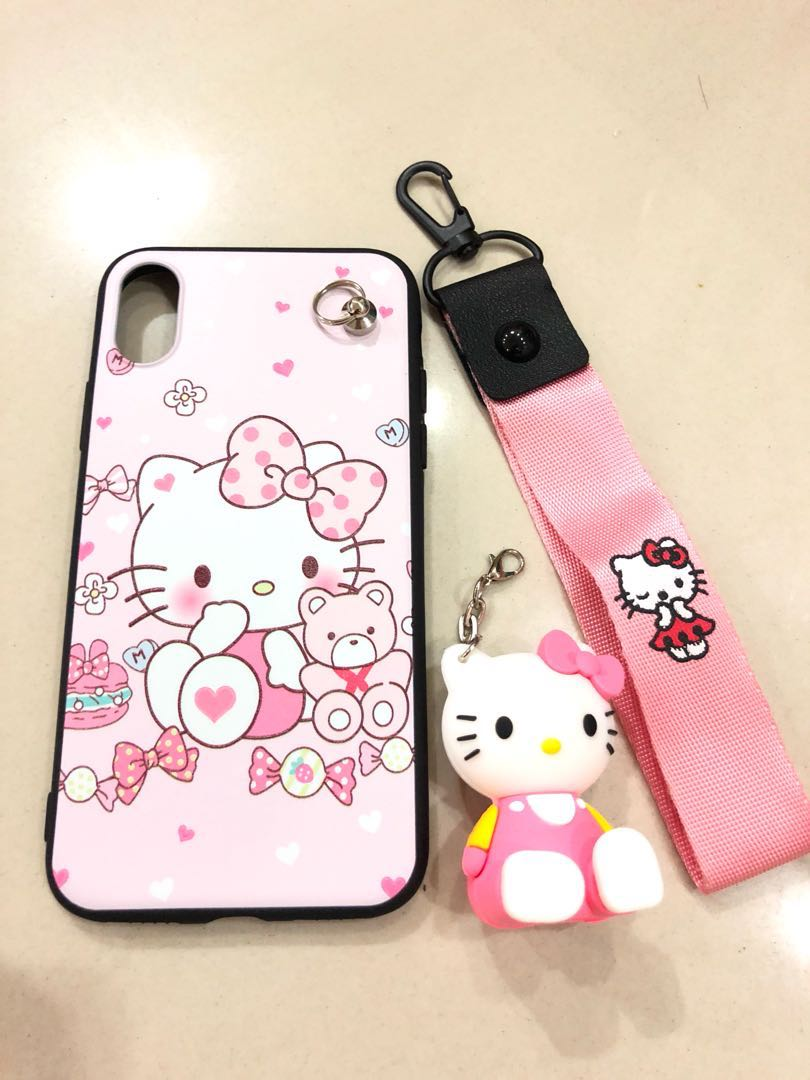 classic fit ce833 7340e Hello Kitty with strap -iPhone X case/ casing