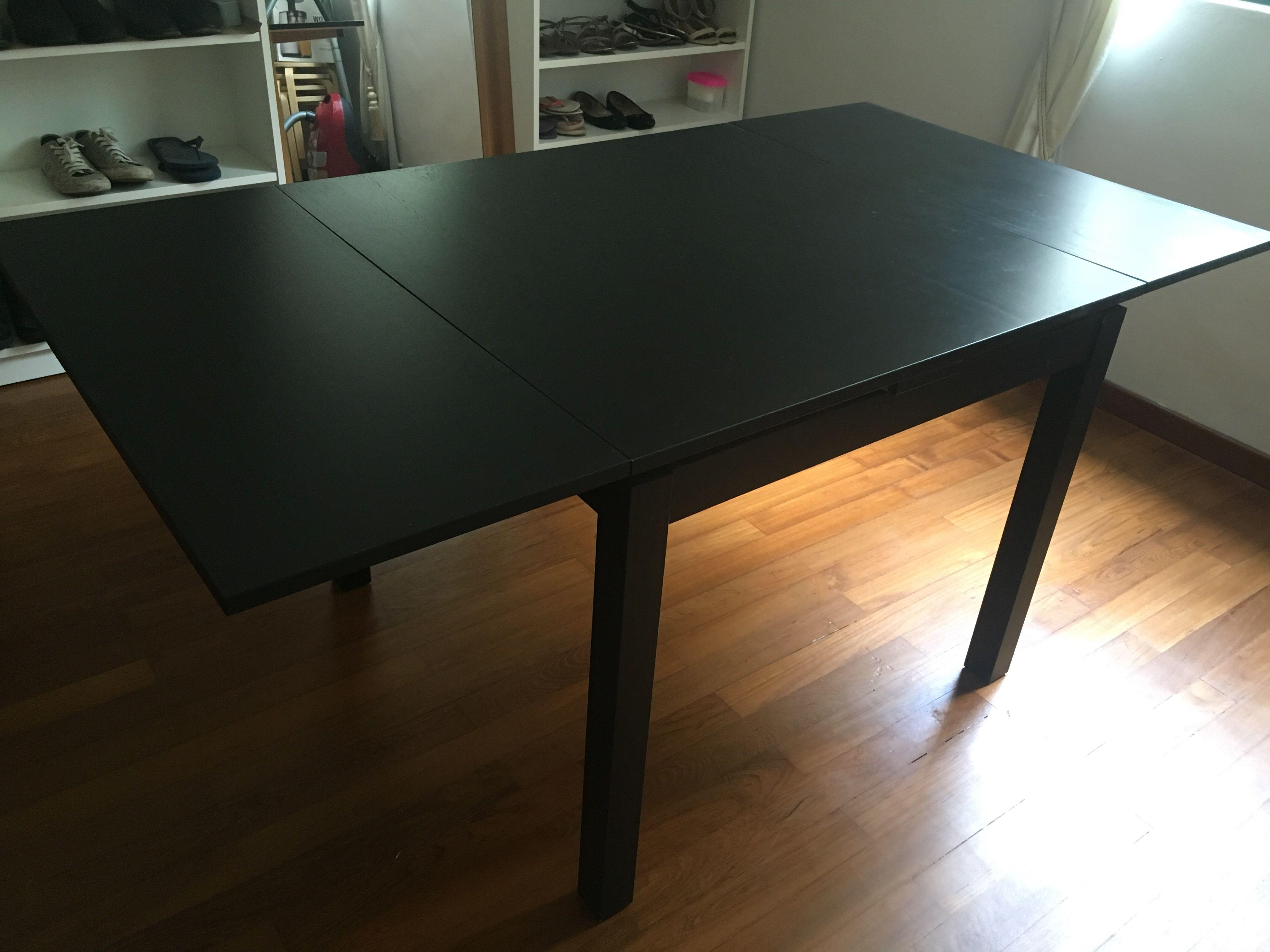 Ikea Bjursta Extendable Dining Table Furniture Tables