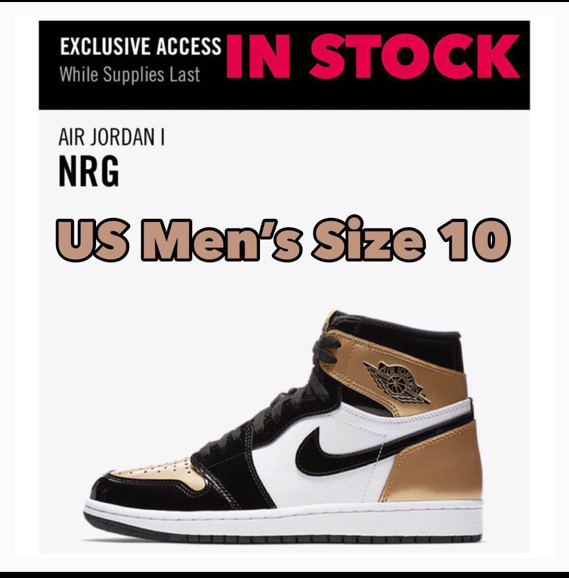 0b81a4505d8 In Stock Men's Nike Air Jordan 1 RETRO HIGH NRG PATENT GOLD TOE ...