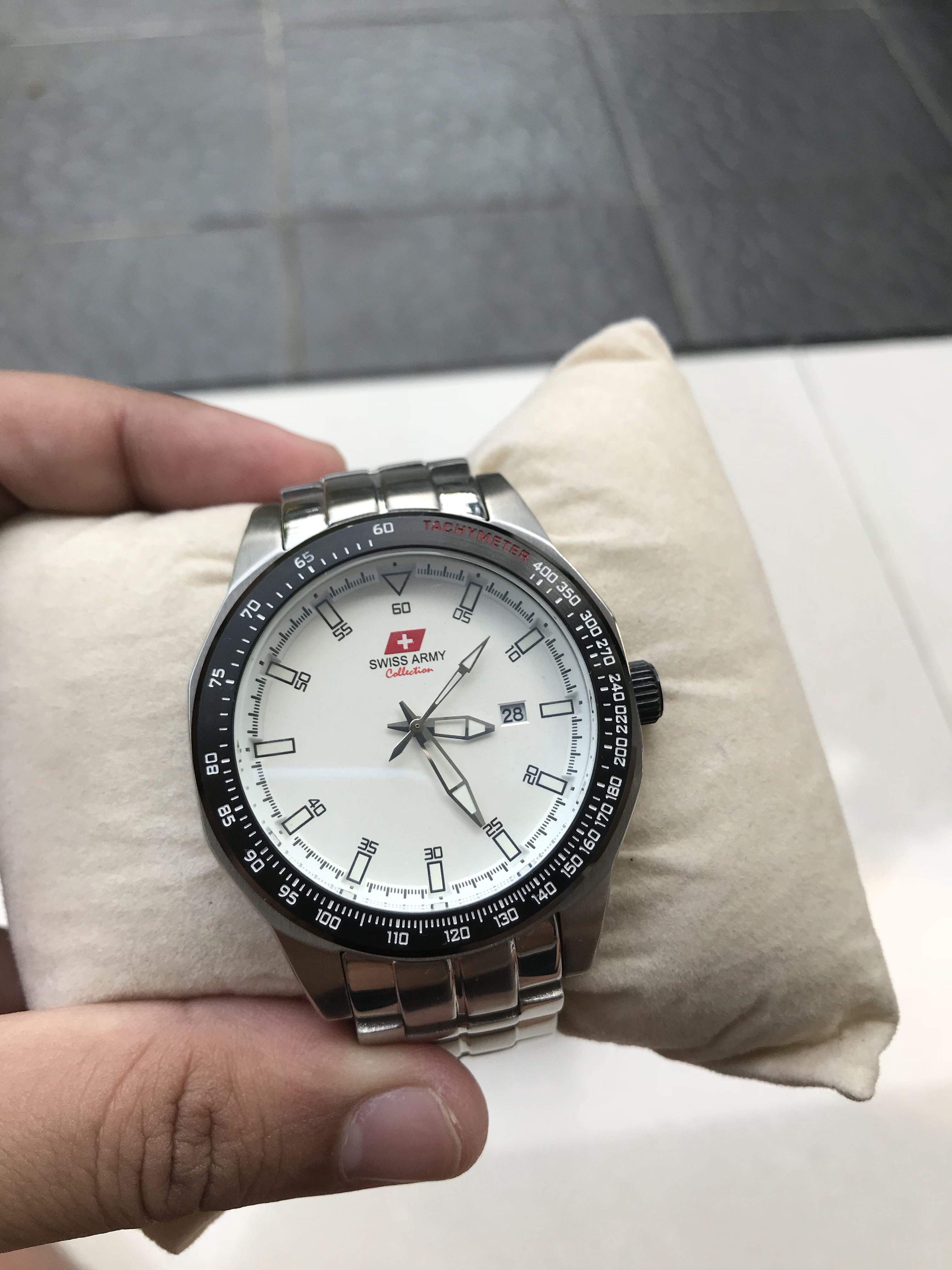 Harga Jual Jam Tangan Pria Versace 1350000 Cowok Expedition E6673 Ss Grey Brown Original Swiss Army Murah Promo Preloved Fesyen Di Carousell