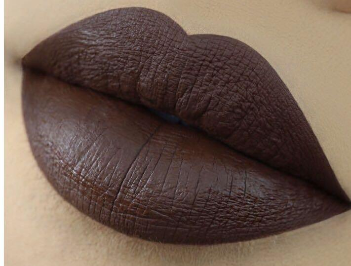 Kylie Jenner cosmetic matte lipstick shade true brown