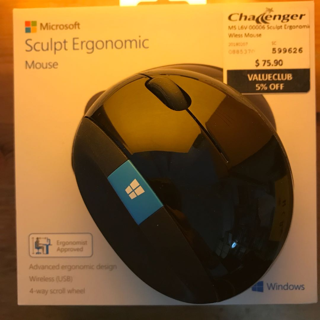 0466412b0fe Microsoft Sculpt Ergonomic Mouse, Electronics, Computer Parts & Accessories  on Carousell