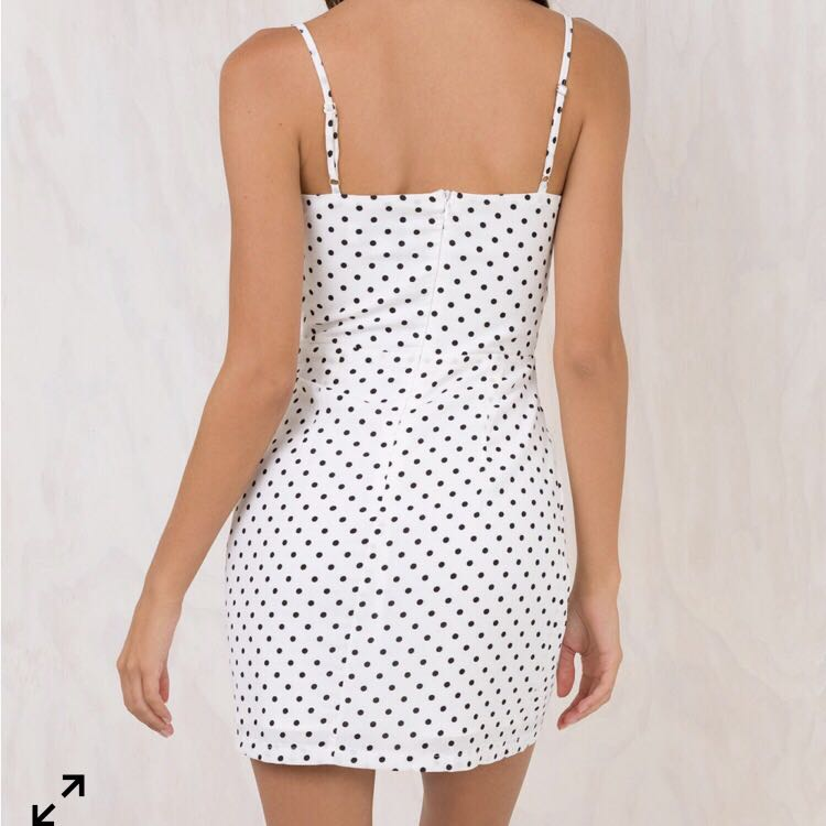 6fc5e25a6e1 Princess Polly white polka dot dress