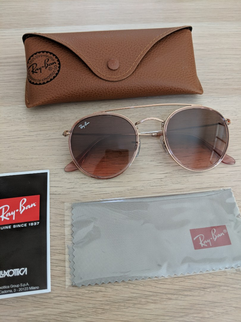 d8c78ad0c700 Ray Ban 3647-N rose gold sunglasses