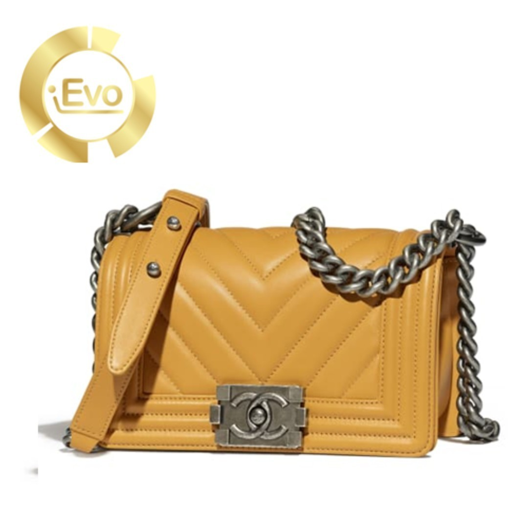 c7c509bc0e8b INSTALMENT PLAN] Chanel Small BOY CHANEL Handbag Yellow, Luxury ...