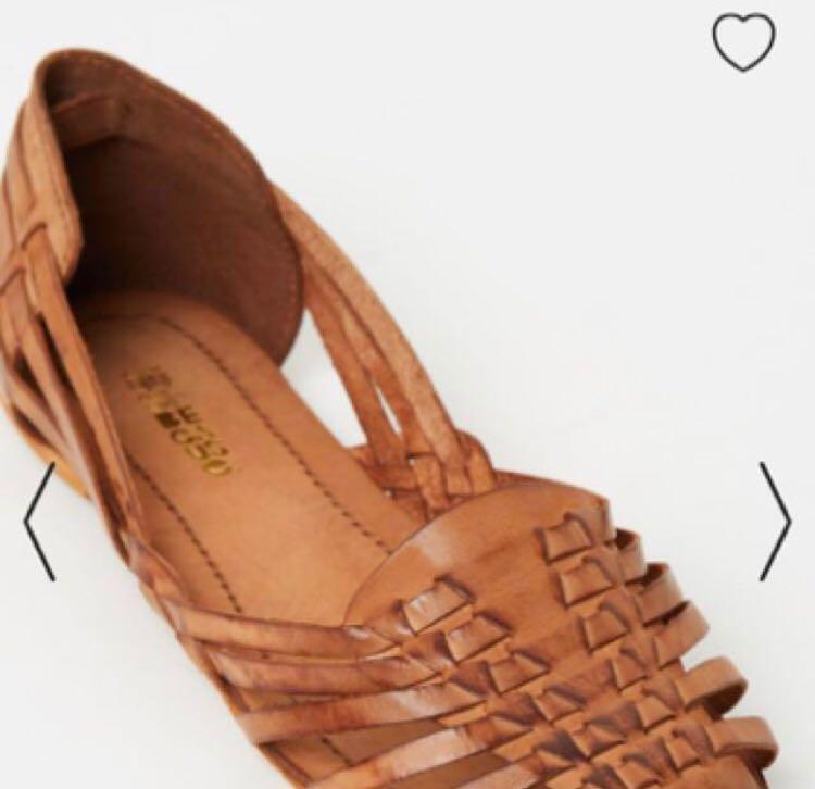 The Iconic tan woven sandals