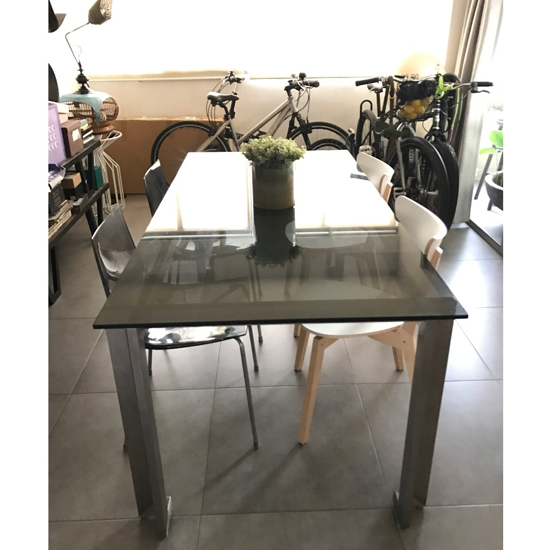 Tinted Gl 1 8m Dining Table