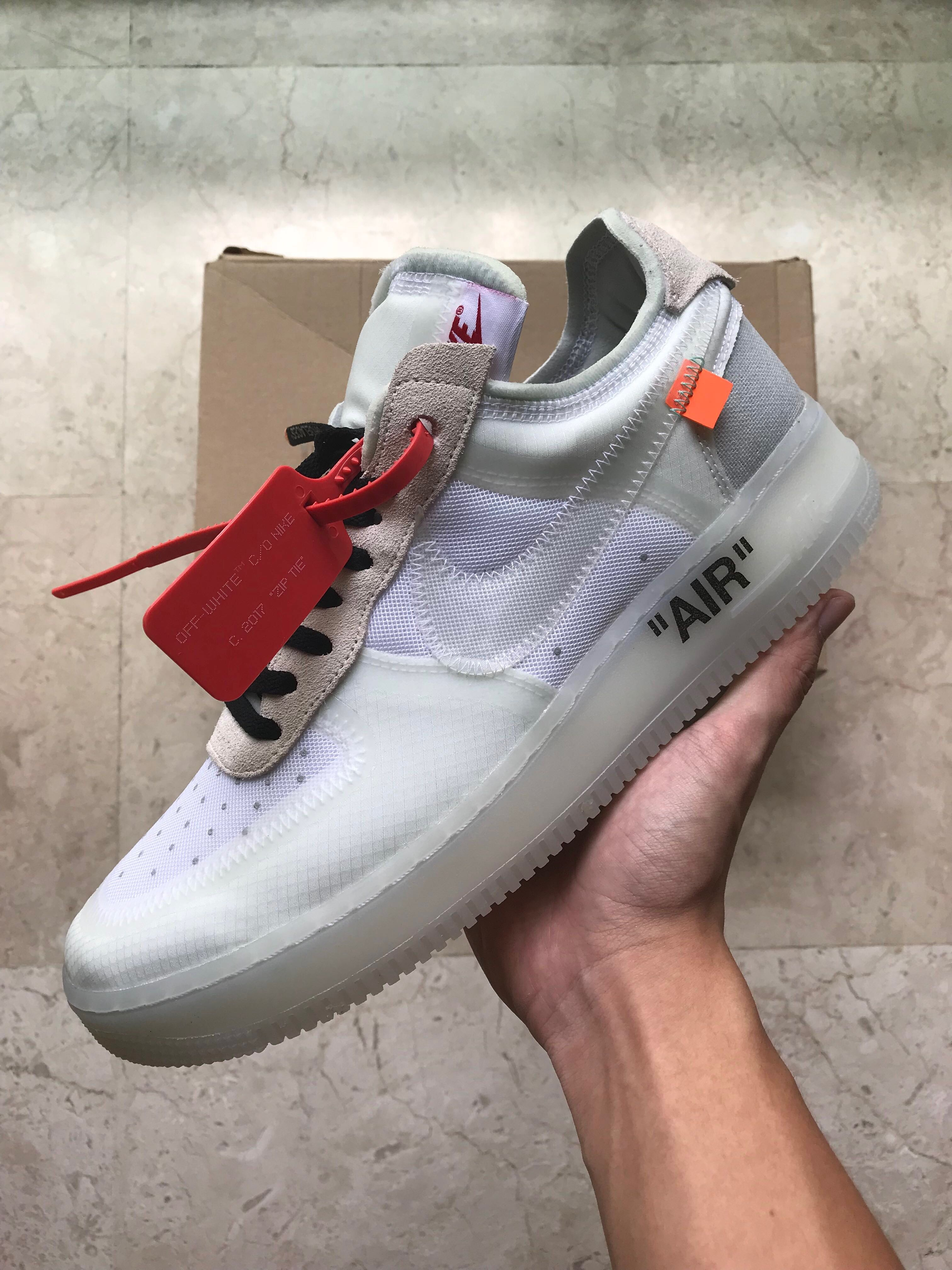 b38339ce77c2 US 9 Off White Nike Air Force One