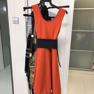 Orange / Black Dress for cheap Sale