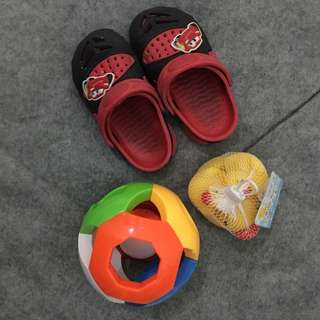 Toddler's Toys + Sandals