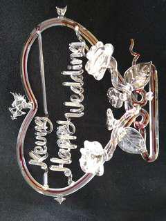 手製 玻璃藝術 給Keung的結婚禮物