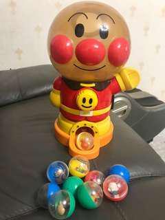 絕版麵包超人扭蛋機玩具