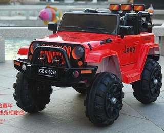 9699 Red Mini Jeep Rechargeable Ride On Car Truck 12V