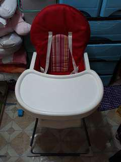 Red high chair