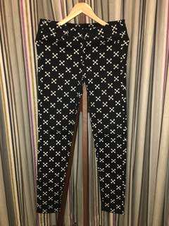 Cross Pattern Jeans