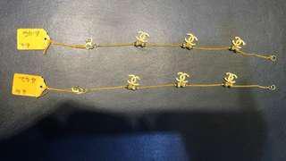 916 GOLD CHANEL BRACELET