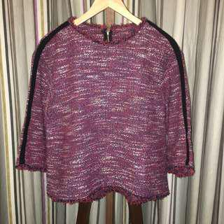 Purple Fringe Sweater