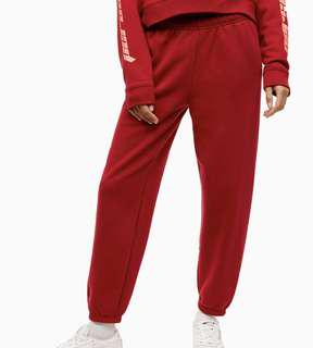 RED ARITZIA SWEATS