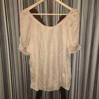 Cream Sheer Top