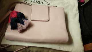 Fossil 美國 流蘇小方包 rfid
