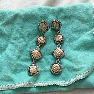 Plated Gold Long Earrings