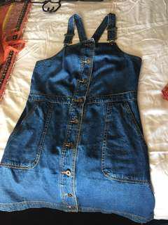 Overalls denim dress