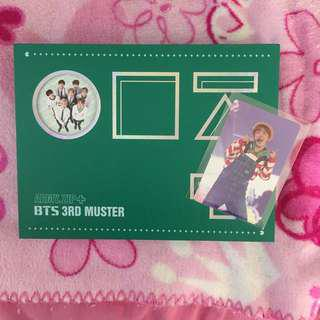 BTS 3rd Muster DVD with J-Hope Photocard