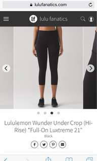 Lululemon Luxtreme Crops High Rise