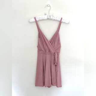 Urban Outfitters pink kimchi romper