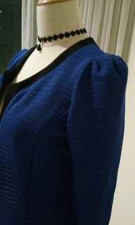 Navy Blue Outer Blouse (suitable for office or evening wear)