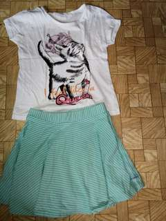 Set of shirt and skirt imported dress