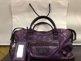 Authentic Balenciaga Part Time Regular Hardware in Raisin