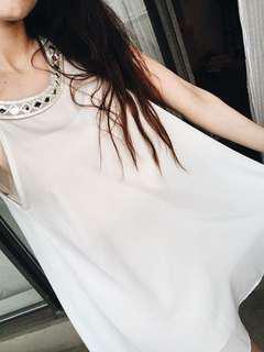 Fancy White Swing Dress
