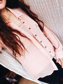 Guess Sheer Pink Shirt