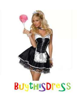 French Maid Women Lovely Costume Party Dress AU 8
