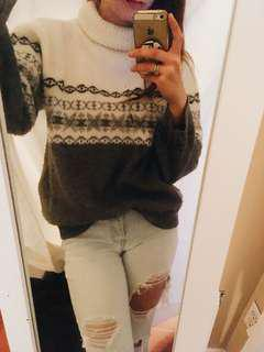 Wool Turtleneck Ugly Sweater