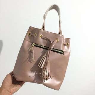 New Hand Bag ( Tas Serut ) Pink Nude