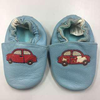 Leather booties Baby boy shoes 0-6mos
