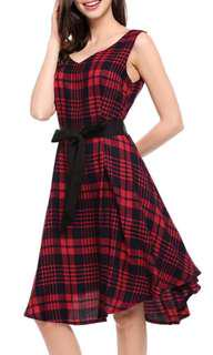 (RM 10 including postage to Semenanjung) Red Checkered Dress
