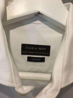 Zara Slim Fit White Shirt, VERY GEWD CONDITION!