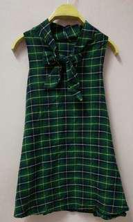 (RM 10 including postage to Semenanjung) Green Checkered Dress