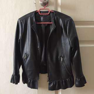 Zara Basic PU Leather Jacket #WinIkea