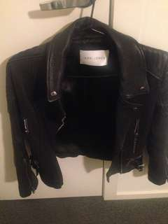 Jerri Jones leather jacket size 6