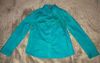 ESSENXA BLUE GREEN LONG-SLEEVED POLO