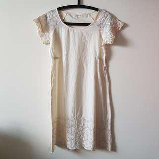 Cocolulu Embroidered White Cotton Dress
